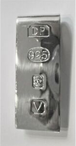 STERLING SILVER HALLMARKED HEAVY MONEY CLIP GREAT QUALITY