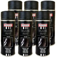RAL9005 1K Acryllack 6 x 400ml Schwarz Matt Lack Spray Sprühdose Troton