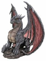 Mythical Dragon - Grey - Garden Ornament - Indoor or Outdoor NEW