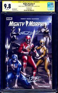Mighty Morphin #1 CGC SS 9.8 signed x2 Fielding ZORDON Austin St John RED RANGER