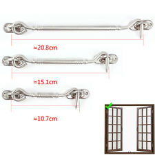2 X Cabin Hook And Eye Catch Hold Gate Shed Garage Patio Door Polished Chrome