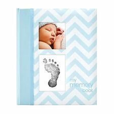 Pearhead First 5 Years Chevron Baby Memory Book with Clean-Touch Baby Safe Ink P