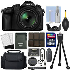 Panasonic Lumix DMC-FZ1000 20.1 MP 4K Digital Camera 16x Optical Zoom + 16GB Kit