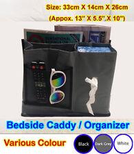 Bedside Caddy Storage Under Mattress Sofa Remote Holder Organizer iphone n.