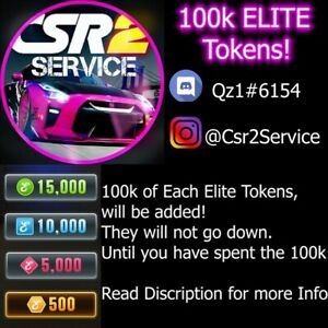 CSR2 Racing - ANDROID/IOS - CSR 2 - 100k of Each Elite Token Parts!