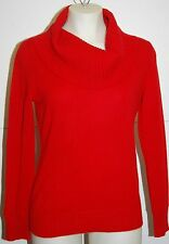 JONES NEW YORK 100% Cashmere Red Cowl Neck Sweater Petite PS $169 NWT FREE SHIP