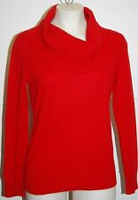 JONES NEW YORK 100% Cashmere Red Cowl Neck Sweater Petite PP $169 NWT FREE SHIP