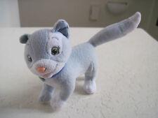 """6"""" Mattel BLUE GRAY KITTY CAT Plush Stuffed Animal"""