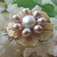 32mm Natural MOP/Shell with Genuine Pearl Clasp for Jewelry Design