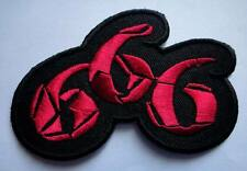NO.666 SIX HUNDRED AND SIXTY-SIX SATAN Embroidered Iron on Patch Free Shipping