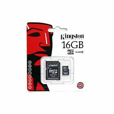KINGSTON MEMORY FLASH CARD MICRO SDHC CLASS 4 16GB + ADAPTER SDXC NEW SDC4/16GB