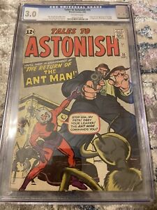 Tales to Astonish 35 CGC 3.0 Off-White Pages, 2nd Ant-Man , First in Costume