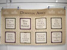 Fabric Andover DOWNTON ABBEY Dowager Countess quotes Panel