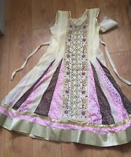 Anarkali Dress, Bollywood dress, salwar kameez cream