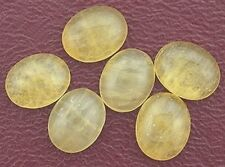 SIX 10x8 10mm x 8mm Oval Yellow Jade Cab Cabochon Gem Stone Gemstone yjc1