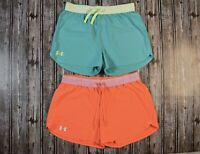 Women's Under Armour Play Up Athletic Running Shorts Lot Of 2 Size Small