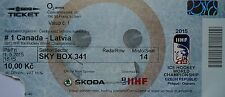 TICKET Sky Box Eishockey WM 1.5.2015 Canada - Latvia in Prag
