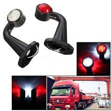 2x Truck Trailer 12 LED 12V 24V Elbow Side Marker Light Indicator Lamp E-Marked