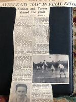 m1-5 ephemera 1949 Picture Article Walthamstow Av 5 Woking 1 Brian Turner