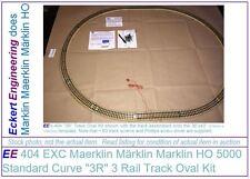 """EE 404 EXC Maerklin Märklin Marklin HO 5000 Standard Curve """"3R"""" 3 Rail Trak Oval"""