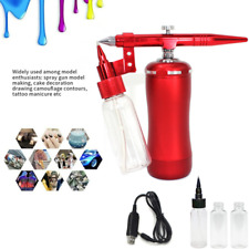 0.3mm Airbrush Kit with Compressor for Makeup,Cake Decor,Barber, Painting Model