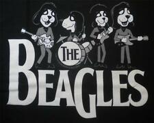 Beagles Beatles Guitars Drums Parody Big Dogs Tee Shirt Black Large 100% Cotton