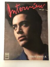 Andy Warhol Interview Magazine Featuring Robert Downey Jr. April 1989