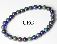 SELECT Round 6-7mm CHRYSOCOLLA Beads Stretch Bracelet (BR99DG)