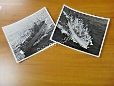 OFFICIAL US Navy Ammunition  Ship 2 Photos 8x10 AE-12 USS Wrangell