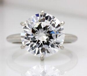 platinum 11.5mm round brilliant cubic zirconia solitaire engagement ring 7.65g