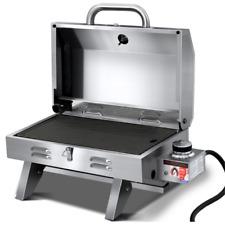Grillz PGB-1B-HP-SS-A Portable Gas BBQ Grill - Silver