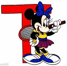 "7.5"" DISNEY MINNIE MOUSE  T TENNIS CHARACTER FABRIC APPLIQUE IRON ON"