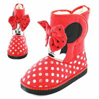 Minnie Mouse Norton Disney Girls Kids Boots - Red (Size 6,7,8,9,10,11,12)