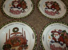 "International China Christmas Story Susan Winget 1 Salad Plate 8 1/8"" 4 total"