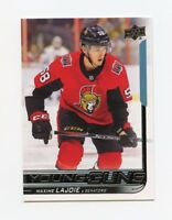 18/19 UPPER DECK YOUNG GUNS ROOKIE RC #223 MAXIME LAJOIE SENATORS *58778