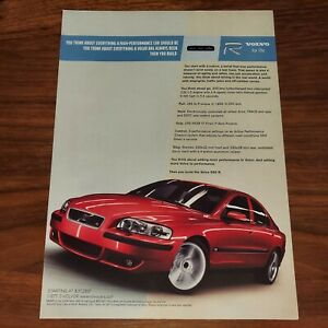 VOLVO S60 R MAGAZINE ADVERTISEMENT PRINT AD THINK ABOUT ADDING MORE PERFORMANCE