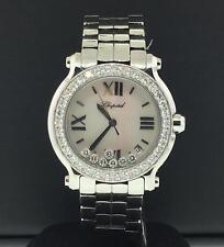Chopard Happy Sport 36mm Steel Factory Diamond Bezel 7 Floating Diamonds 278478