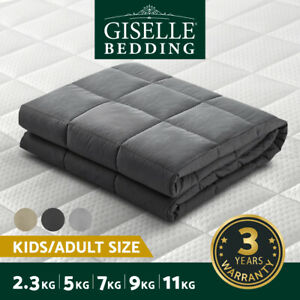 Giselle Weighted Blanket 7KG 9KG Kids 5KG 11/2.3KG Adult Relax Heavy Gravity