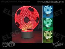 Efecto 3D Luz de fútbol ilusión óptica, de cambio de color, alimentado por USB