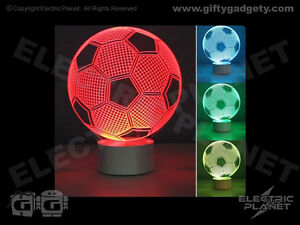 3D Effect Optical Illusion Football Light, Colour-Changing, USB-Powered