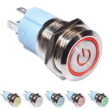 Edelstahl Druckschalter Power LED Ein-Aus Schalter Einbauschalter Drucktaster