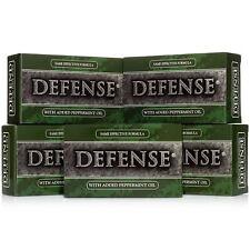 Defense Soap Bar Peppermint 4 oz (5 Pack) 100% Natural & Herbal Grade Tea Tree