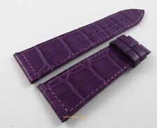 New Franck Muller Long Island 23mm Purple Alligator Strap OEM Bag