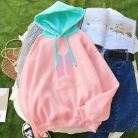BTS Bangtan Boys Love Yourself Pink Hoodie Sweatshirt Women Pullover Sweater