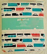 """PILLOWFORT """"TOTAL TRANSIT"""" COTTON TODDLER SHEET SET --  NEW"""