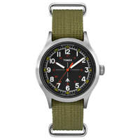Timex Men's Watch Todd Snyder Military Black Dial Green Strap TW4B05800JR