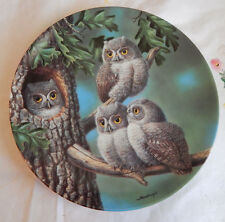 PEEK-A-WHOO:SCREECH OWLS PLATE BABY OWLS OF NORTH AMERICA