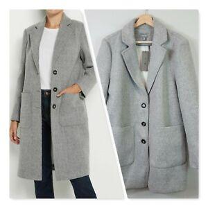 [ SUSSAN ] Womens Grey Longline Coat / Jacket NEW | NEW Size AU 16 or US 12