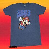 New Nintendo Super Mario Bros. 3 Raccoon 1990 Vintage Retro Men's  T-Shirt