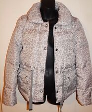 REBECCA TAYLOR WOMENS PUFFER JACKET SNOW CHEETAH sz S NEW$595 AUTHENTIC